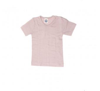 Cosilana tshirt katoen/wol/zijde lichtroze (91232)