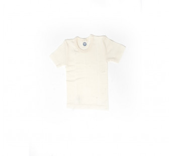 Cosilana short sleeve shirt cotton/wool/silk natural (91232)