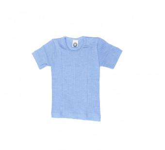 Cosilana tshirt katoen/wol/zijde lichtblauw (91232)