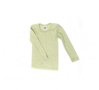 Cosilana longsleeve katoen/wol/zijde groen (91233)