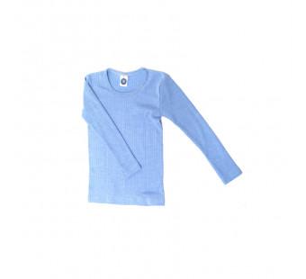 Cosilana longsleeve katoen/wol/zijde lichtblauw (91233)