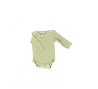 Cosilana romper lange mouw katoen/wol/zijde groen  (91053)
