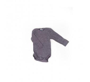 Cosilana romper lange mouw katoen/wol/zijde paars (91053)