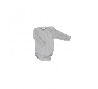 Cosilana romper lange mouw katoen/wol/zijde grijs (91053)