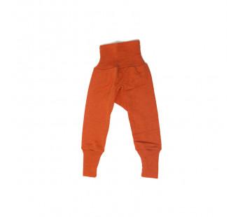 Cosilana babybroekje met boord oranje 70% wol 30% zijde (71016)