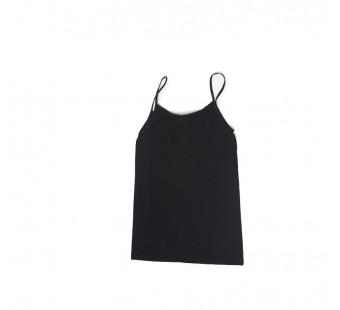 Cosilana spaghetti hemd wol/zijde zwart (710431)