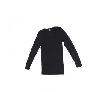 Cosilana longsleeve wol zijde zwart (710433)