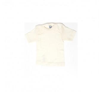 Cosilana short sleeved shirt 70% wool 30% silk natural (71032)