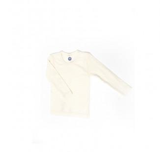 Cosilana lange mouw shirt 70% wol 30% zijde naturel (71233)