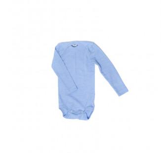Cosilana romper lange mouw katoen/wol/zijde lichtblauw (91053)