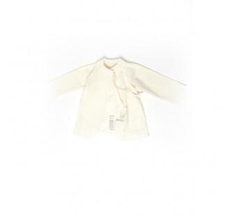 Cosilana wrap-over vest long sleeve 70% wool en 30% silk natural (71023)