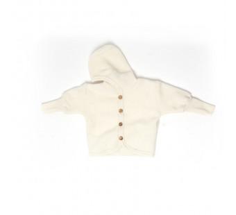 Cosilana woolcottonfleece jacket with hood natural  (48930)