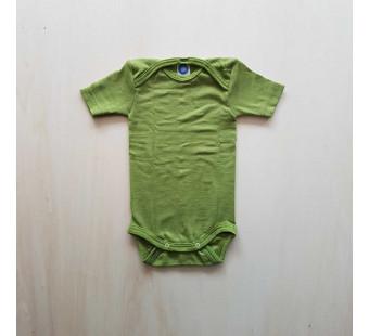 Cosilana korte mouw romper groen 70% wol 30% zijde (71052)