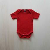Cosilana korte mouw romper rood 70% wol 30% zijde (71052)
