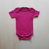 Cosilana korte mouw romper roze 70% wol 30% zijde (71052)
