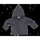 Reiff wol zijde vestje met capuchon van badstofstructuur (terry) grijs