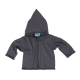 Reiff wool silk terry cardigan with hood Grey