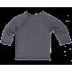 Reiff wool silk wrap round terry cardigan grey
