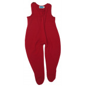 Reiff wool silk terry romper with legs red