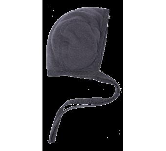 Reiff wolzijde terry strikmutsje grijs