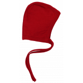 Reiff terry wool silk bonnet red