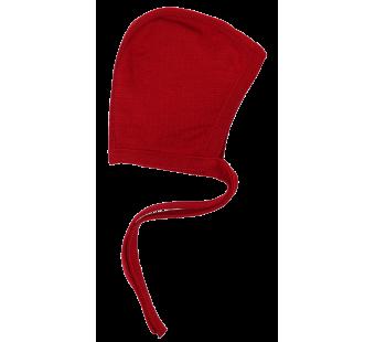 Reiff wolzijde terry strikmutsje rood