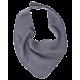 Reiff wool silk terry bib grey