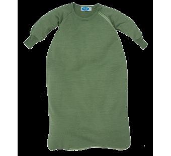 Reiff wol zijde slaapzak met mouwen van badstofstructuur (terry) groen