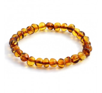amber bracelet for adults cognac coloured