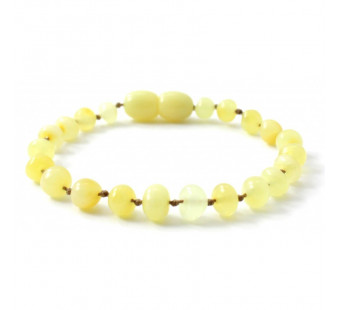 Amber bracelet for babies and children lemon