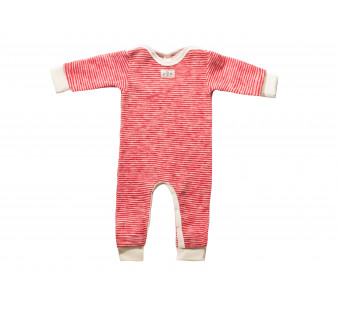 Lilano softly rubbed woolen jumpsuit red striped