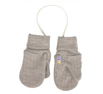 Joha brownish grey mittens with thumb 100% wool