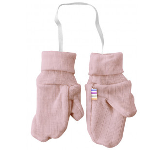 Joha old pink mittens with thumb 100% wool