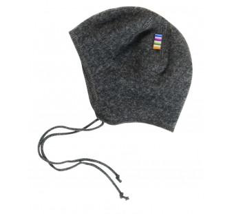 Joha  woolfleece bonnet dark grey (97974)