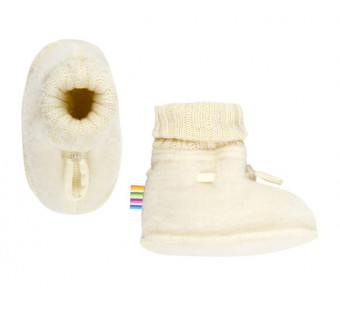 Joha woolfleece booties natural (97972)