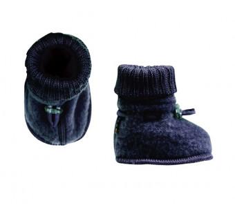 Joha woolfleece booties navy (97972)