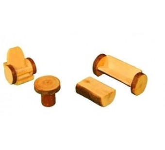 Magic Wood set of 4 living room furniture