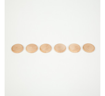 Grapat set of 6 wooden coins (16-155)