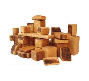 Bikeho set of 30-60-90 wooden blocks (3042)
