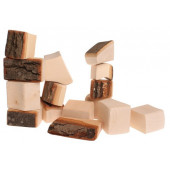 Grimms set of 15 blocks with  bark (10000)