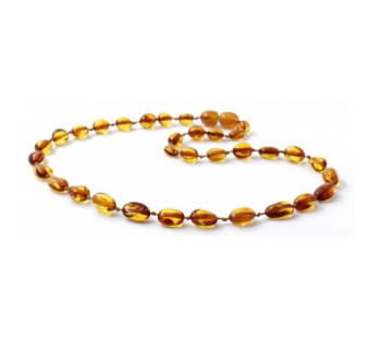 amber necklace cognac bean