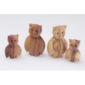 Predan wooden owls
