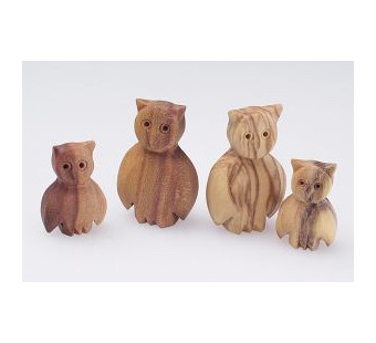 Predan houten uilen