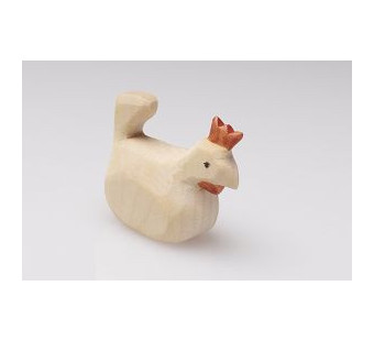Predan wooden sitting chicken