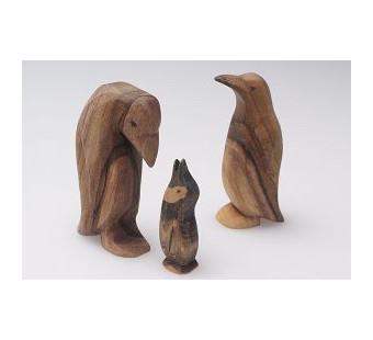 Predan houten pinguin
