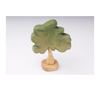 Predan wooden broad-leaved tree about 13cm high