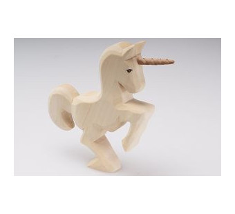 Predan wooden jumping unicorn