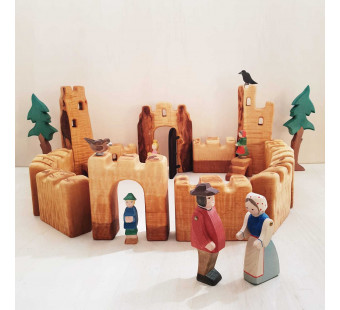 bikeho klein houten kasteel 15 delig