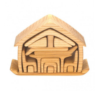 Gluckskafer wooden doll house natural
