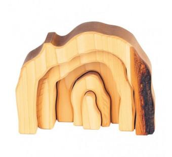 Gluckskafer grot 5 delig naturel